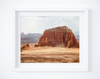 Utah desert photograph - Desert wall art -  Landscape print - Nature photo print - Large wall decor - Framed art - Earth tones - Red rocks