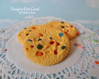 FAUX Rainbow Chip Cookie Set Fake Fake Food