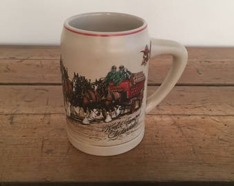 Sale! World Famous Clydesdales Beer Mug Anheuser Busch Made in Brazil