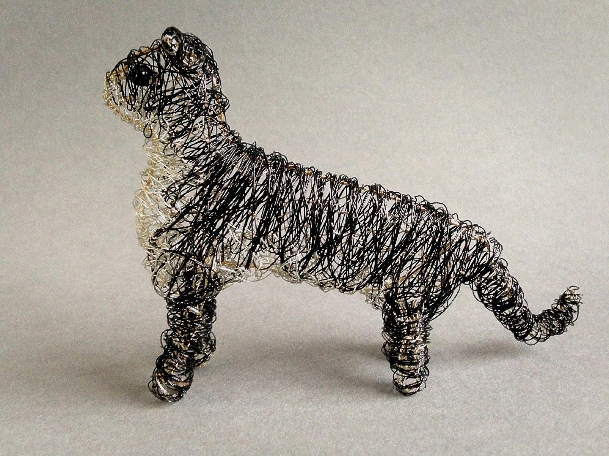 Draht Katze Katze Statue benutzerdefinierte Haustier