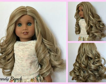 Zazou Dolls Exclusive Lovely WIG for 18 Inch dolls such as Journey, Our Generation and American Girl