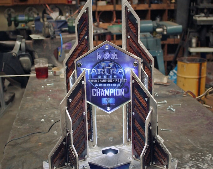 Custom Metal Trophy with LED Lighting