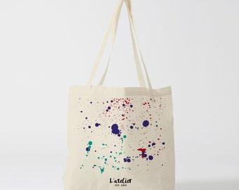 X22Y Tote bag tasks of painting, canvas bag, handbag, tote bag, diaper bag, computer bag, bread bag, bag graphics
