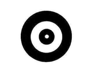 TARGET bullseye UNMOUNTED rubber stamp archery, axe throwing lumberjack, Timber Sports, pellet gun target, Sweet Grass Stamps No.14