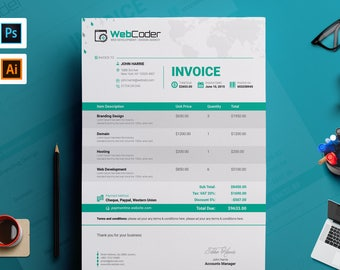 Custom Receipt Etsy - Invoice templates microsoft word online fabric store coupon