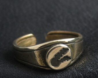 The Twin Tailed Comet bronze ring