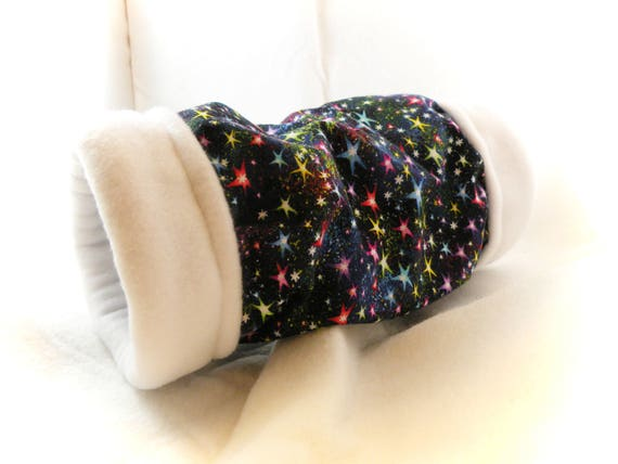 Twinkle Stars 4 Inch Cozy Tunnel for Your Favorite Little Hedgehog, Guinea Pig, Small Pet