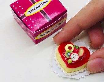 Miniature Cake Jam decorate fruit with box