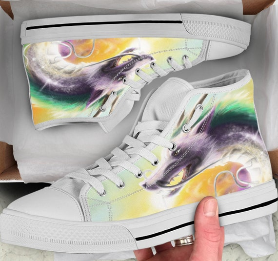 Looks Shoes Converse sneakers Away Tops Shoes Spirited Colorful Shoes Sneakers Tops Women's High like Men's Anime high Dragon ZFgwRq7