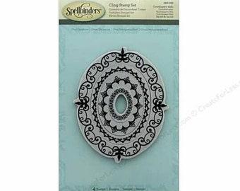 Spellbinders Cling Stamp - Oval Opulence 4 pc Nesting Stamp Set