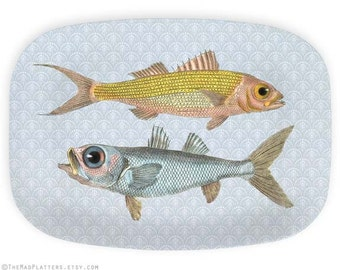 Fish, 1800s fishes platter