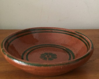 Mexican Terra Cotta bowl  folk art