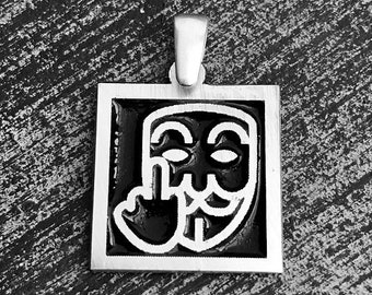 "925 Sterling Silver ""Anonymous"" Charm/Pendant"