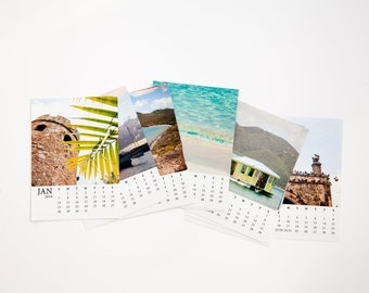 SALE 2018 Caribbean Hurricane Relief calendar - Donation charity Christmas gift - Photo print set holiday gift - Wall or desk
