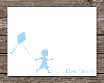 PRINTABLE Silhouette Cards, Silhouette Note Cards, Kite Note Cards, Personalized Cards