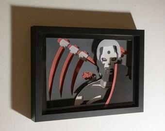 Hidan Akatsuki anime framed hand paper cut, naruto gift, special wall decor, unique gift, anime fan home decor, wall art, anime gift