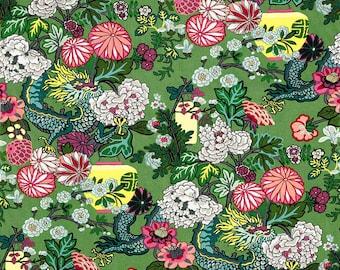 "Schumacher Chiang Mai Dragon ""Jade"" Fabric by the Yard"