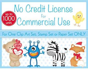 75% OFF Commercial Use License, No Credit Required License, Clip Art Sets, Digital Stamp Sets, Digital Paper Packs
