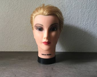 Vintage Cosmetology Mannequin Head, Vintage female Mannequin head from 80s