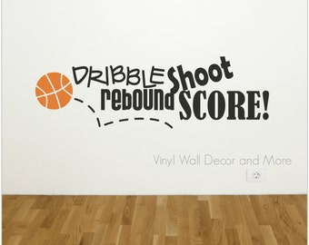 Basketball Sports Vinyl Wall Decal
