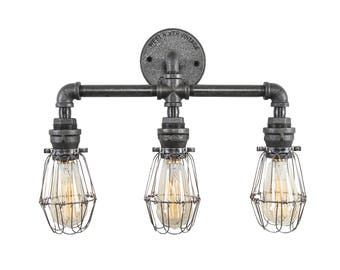 Indie - Wire Light - Moms - Basket Light - Swag Light - Pendant Chandelier - Industrial Decor - Industrial Lighting - Trendy - Ladies