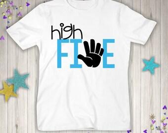 FiVE Birthday - 5th Birthday Shirt - Five Birthday Boy - 5th Birthday Shirt - Five Year Old - 5th Birthday Gift- 5th Birthday Outfit
