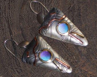 Susan Maria Buckley Sterling Copper Brass Niobium Earrings
