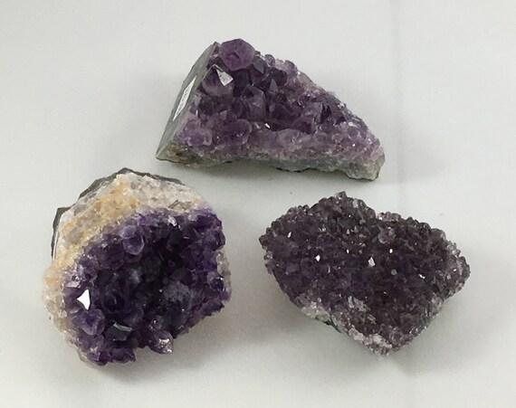 AMETHYST Healing Gemstone// Raw Crystals// Amethyst Cluster// Home Decor// Healing Tools// February Birthstone// Third Eye + Crown Chakras
