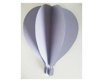 1 hot air balloon 3 D wall - big model 27 cm high