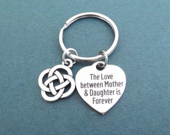 Celtic, Knot, The love between Mother and Daughter is Forever, Key chain, Celtic knot, Mother, Daughter, Forever, Key ring, Gift, Accessory