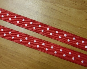 Red Polka Dotted 5 Yards