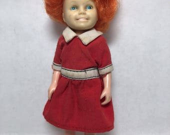 Little Orphan Annie Doll 1982 Knickerbocker Company Original Red Dress Movie Andrea McArdle