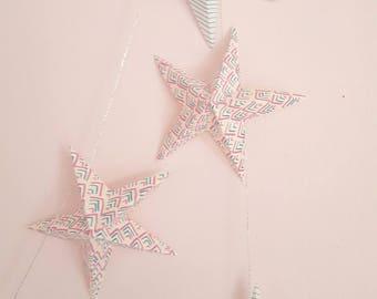 "The ""10 magic stars"" paper Garland"