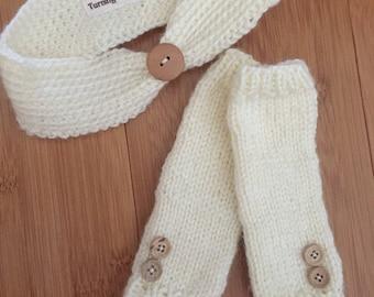 Newborn Headband and Legwarmers