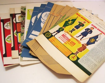 15 Vintage School Book Covers Assorted Advertising Unused Great Graphics