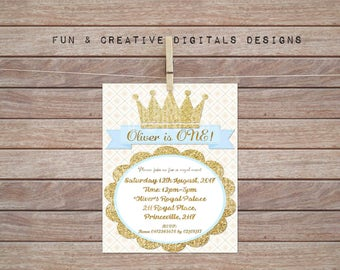 Prince Crown Invitation