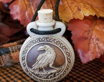 Raven Bottle Pendant