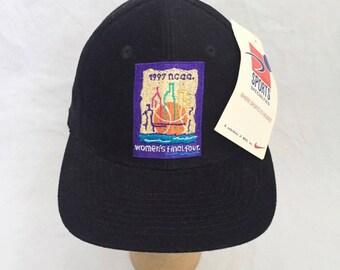 vintage women's 1997 final four sports specialties scrunchie back cap adult OSFA deadstock NWT