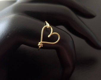 14kt Gold filled or 14kt Rose Gold filled Dainty Heart Tie the knot ring bridesmaid wedding baby shower gifts for her gifts for mom