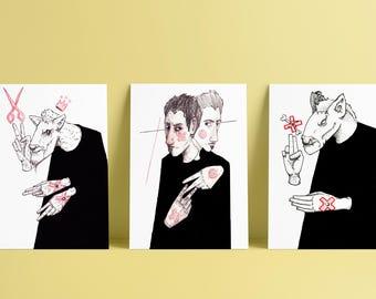 Three Regrets A5 Prints