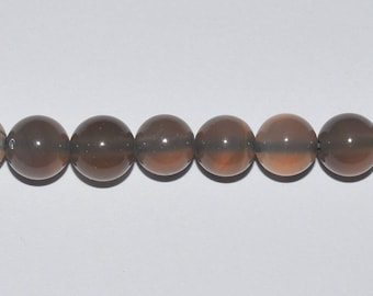 10 diameter 8mm grey agate beads