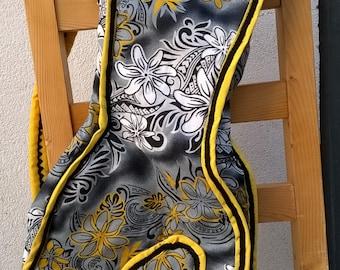 cover kamaka-ukulele Hawaiian fabric Polynesian sewn hand