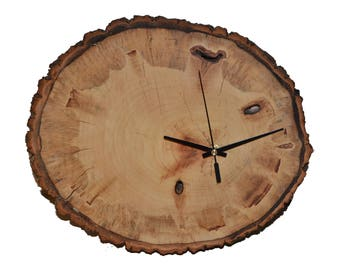 "Wooden Wall Clock ""The versatile"" ash Tree disc Watch"