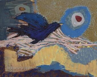 blackbird flying