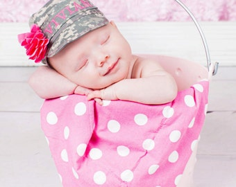 Military Baby hat, acu hat, multi cam, airforce, marines, usn  hat, military hat All sizes