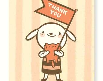 Thank You Bunny Card