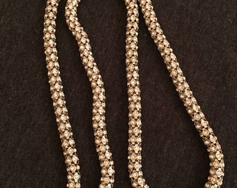 KJL Silver Tone and Rhinestone Necklace 30 inch