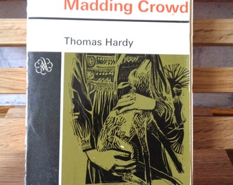 Vintage book Far from the Madding Crowd Thomas Hardy 1969 paperback novel humour English fiction romance romantic book readers gift 354