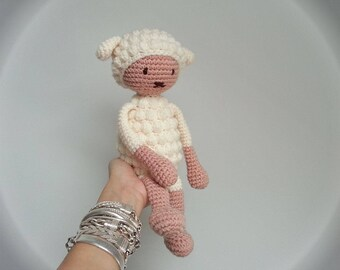 Crochet baby blanket lamb | sheep plush | baby shower gift | birth gift | baby boy & girl lovey | lamb stuffed animal | sheep amigurumi