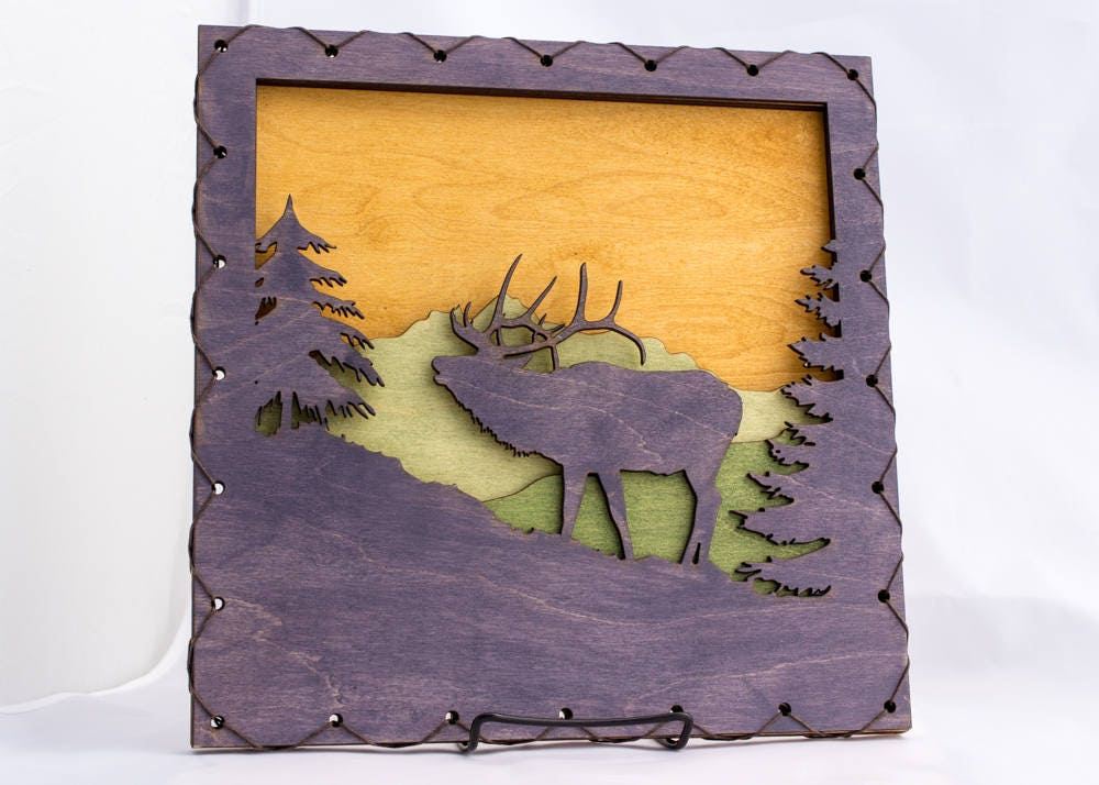Nature Lover Gift - Elk Decor - Forest Wall Art - Wall Decor ...